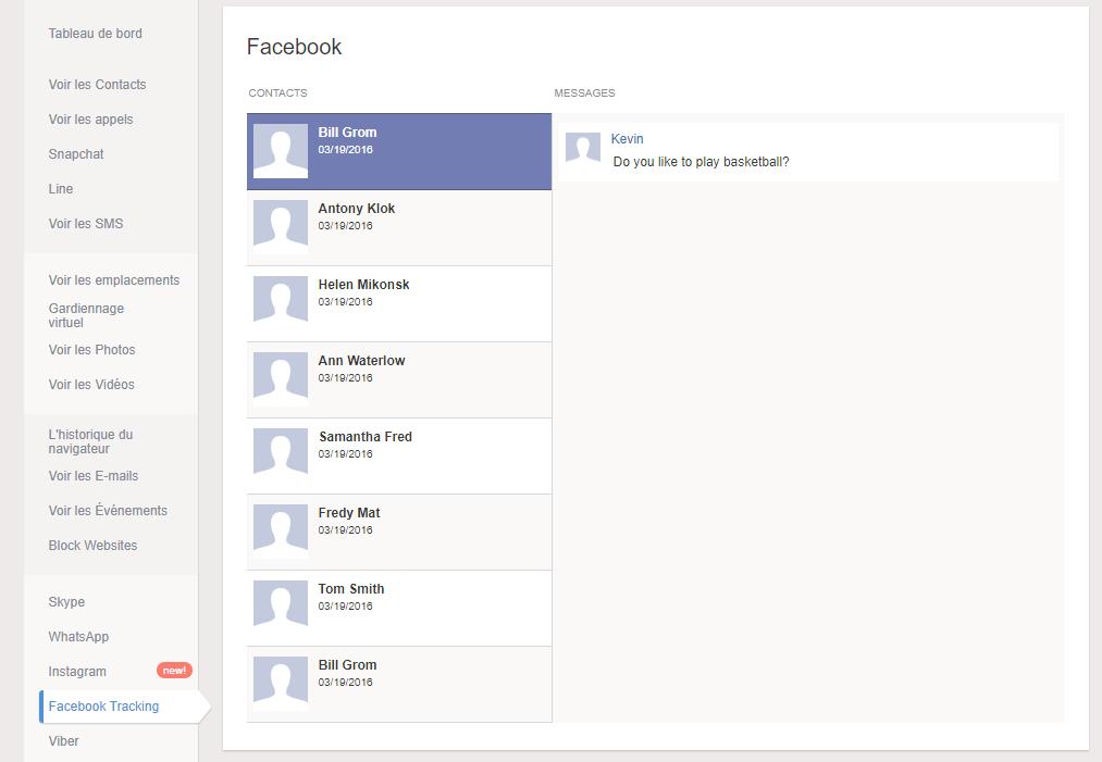 espionner un compte facebook