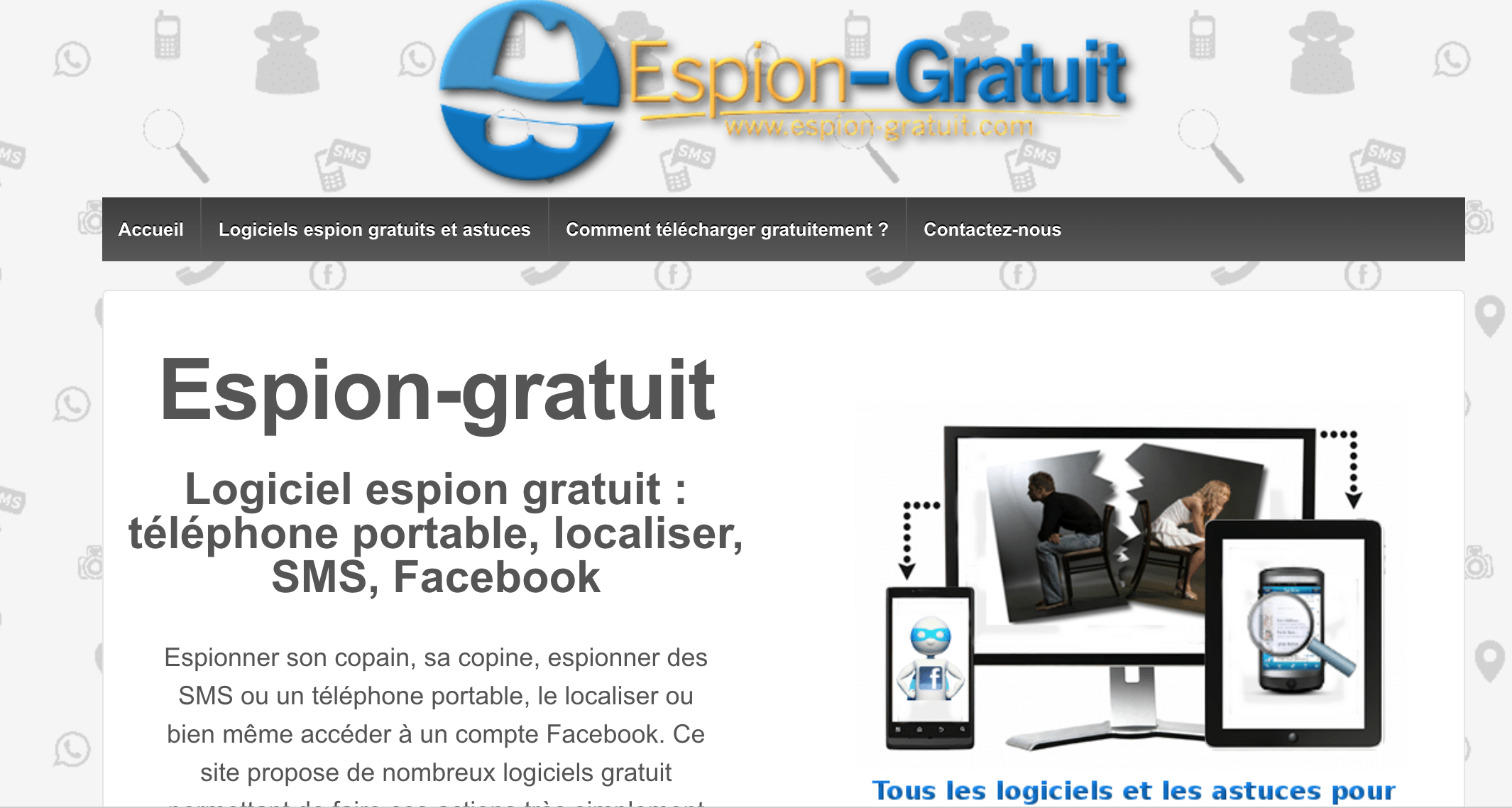 espion gratuit avis les avis sur le site espion. Black Bedroom Furniture Sets. Home Design Ideas